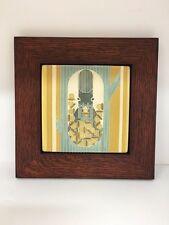 Motawi October Art Tile in a Family Woodworks Oak Park Arts & Crafts Frame