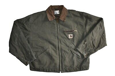 Vintage Carhartt J97 MOS Detroit Canvas Work Jacket Moss ...