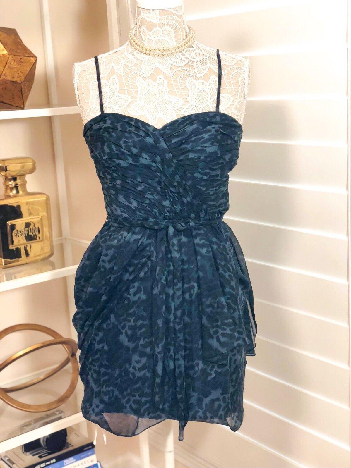 Pre-Owned Women's Rebecca Taylor Dress, bluee Animal Print, Sz 4