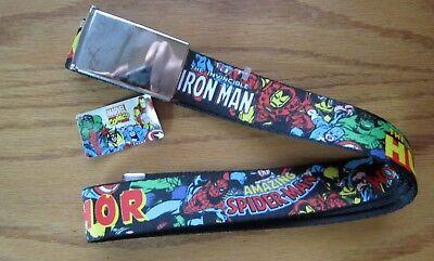 Iron Man Seatbelt Belt Arc Reactor Marvel Superheroes Adjustable New Avengers