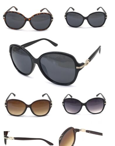 8058 Vintage Plain Ladies Sunglasses Delicate Metal Decoration Retro Round Frame