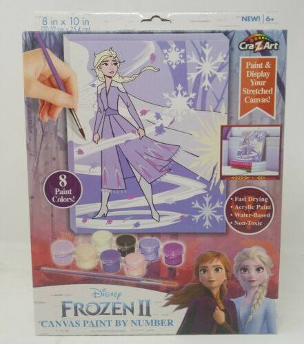 Frozen II Paint by Number Craft Kit  Elsa Anna 8x10