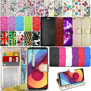 For-LG-Q6-M700N-Premium-Wallet-Leather-Case-Flip-Cover-Screen-Protector