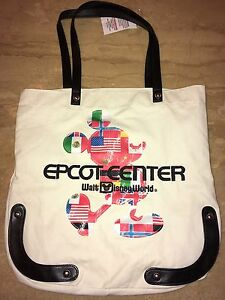 Disney-Epcot-Mickey-Mouse-Canvass-Tote-Bag-New-with-Tag
