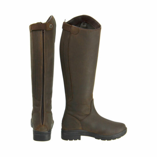 Hy LAND WATERFORD Long Tall Leather Winter Country//Riding Boot Dark Brown 36-41