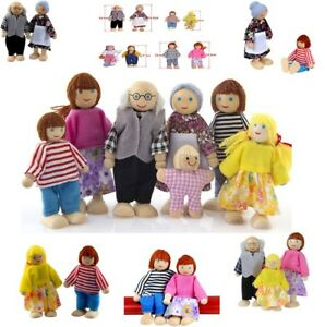 1-Set-Wooden-Furniture-Dolls-House-Family-Miniature-7-People-Doll-Toy-For-Kids