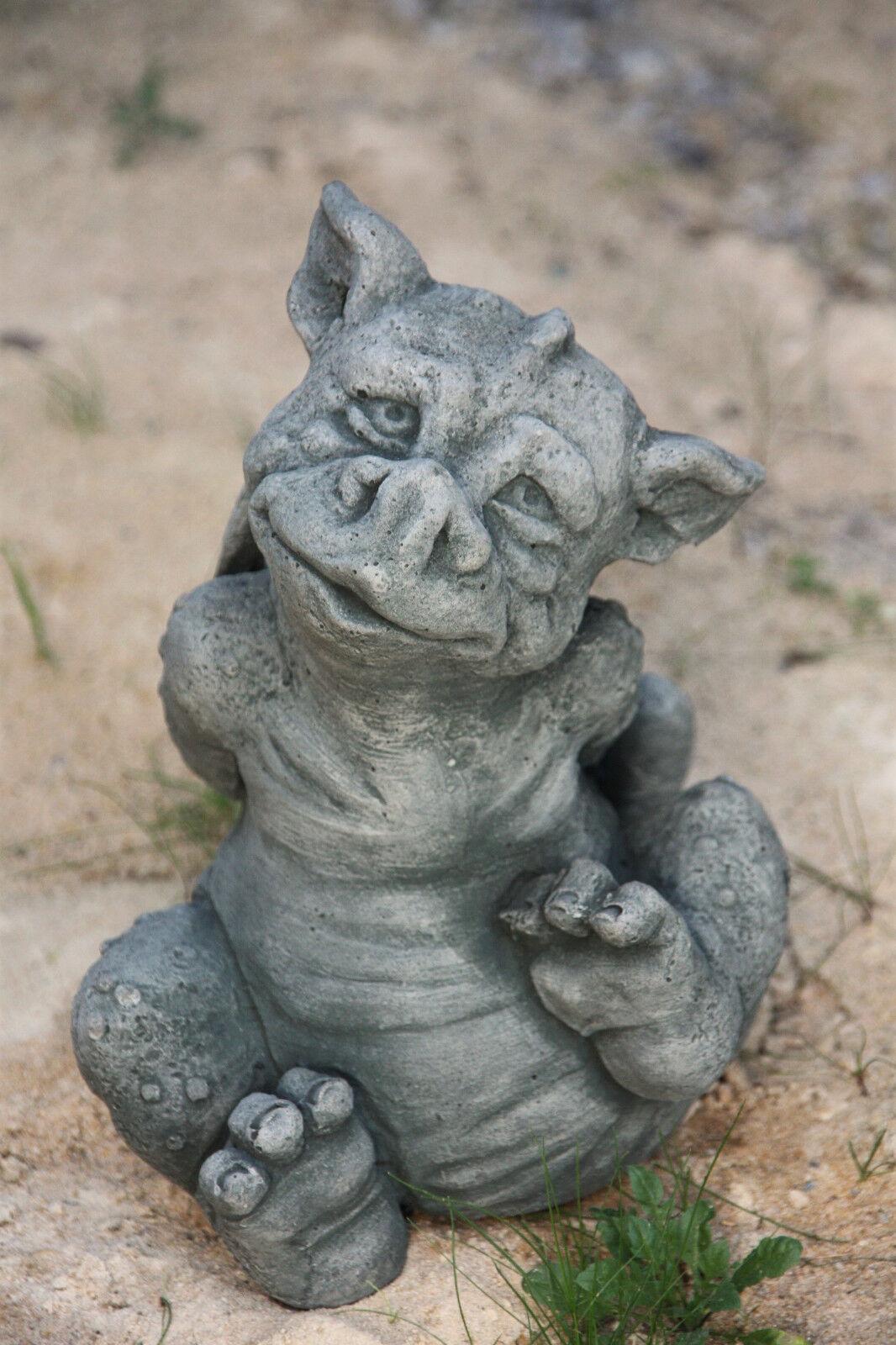 Dragón gracioso diverdeido personaje de piedra fundición jardín Frost Festival piedra personaje nuevo de-589