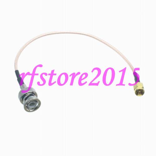 Cable RG316 BNC male plug to SMA male plug Straight RF Pigtail Jumper