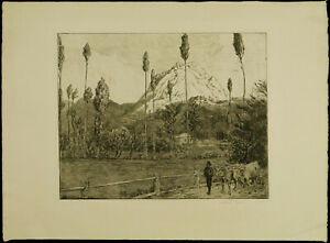 Oberitalienische-Landschaft-1909-Radier-Hans-THOMA-1839-1924-D-handsigniert