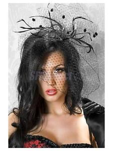 Image Is Loading Feather Net Veil Mini Top Hat Fascinator Hair