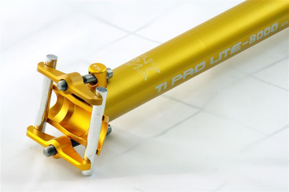 KCNC Ti Pro Scandium Seatpost Ti Bolts 27.2x400mm golden   floor price