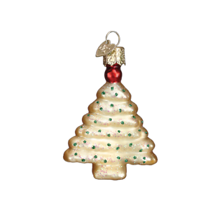 Old World Christmas SPRITZ COOKIE Tree (32190)N Glass Ornament w/ OWC Box