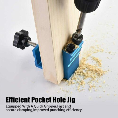 46x Pocket Hole Jig Kit Woodworking Drill Tool Wood Joint Screw Hole Locator