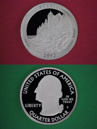 Silver 2012 S Acadia Proof Quarter With 2x2 Snap Deep Cameo Combined Shipping