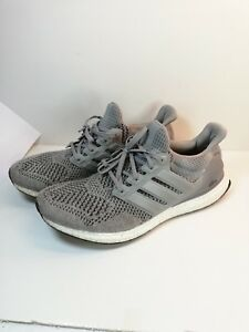 on sale 3c2e0 28ca0 Details about Adidas Ultra Boost 1.0 Wool Grey S77510 Primeknit Men's 11  Running Sneakers