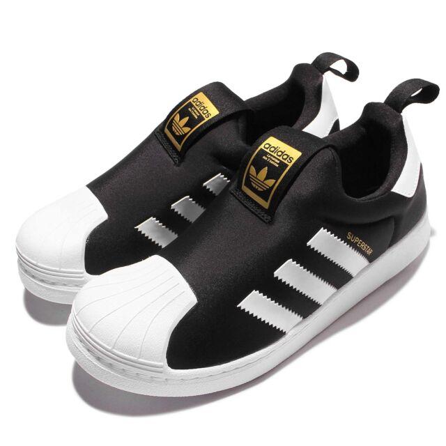 promo code 923bc 2f1a1 adidas Originals Superstar 360 C Black White Kid Preschool Slip On Shoes  S32130