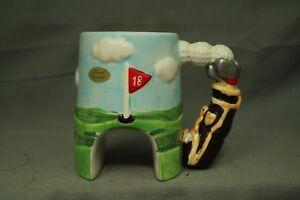Papel freelance 18 hole Golf ceramic Coffee Mug cup Golf balls bag clubs course