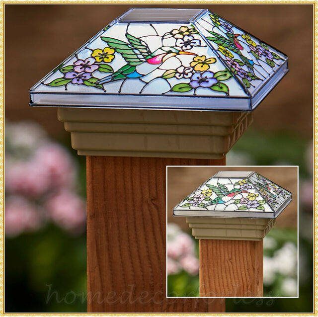 Solar Spring Fence Post Cap Light By Collections Etc Hummingbird For Sale Online Ebay