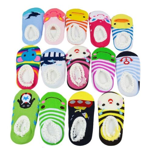 Kids Toddler Baby Girl Boy Anti-slip Socks Newborn Slipper Shoes 6-24 Months