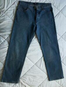 Men-039-s-Marks-and-Spencer-Blue-Harbour-Cotton-Dark-Blue-Denim-Jeans-Size-W34-L29