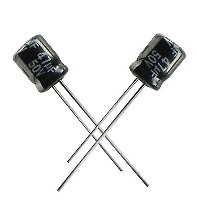 50PCS 47uF 50V 6mm*7mm Radial Electrolytic Capacitors NEW Y2