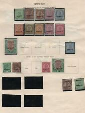 KUWAIT/LEEWARD IS: 1921 1930 Ex Old Time Collection 2 Sides Page (33823)