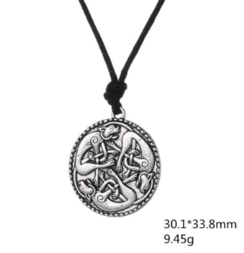 Knotted Cats Irish Pendant Necklace Book of Kells Celtic Otherworld Guardians