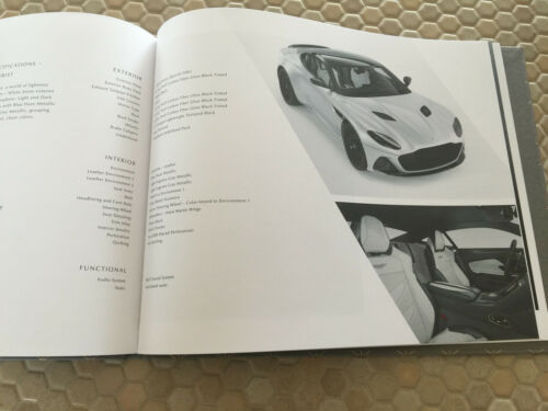 ASTON MARTIN DBS SUPERLEGGERA COUPE FIRST HARDBACK PRESTIGE SALES BROCHURE 2019