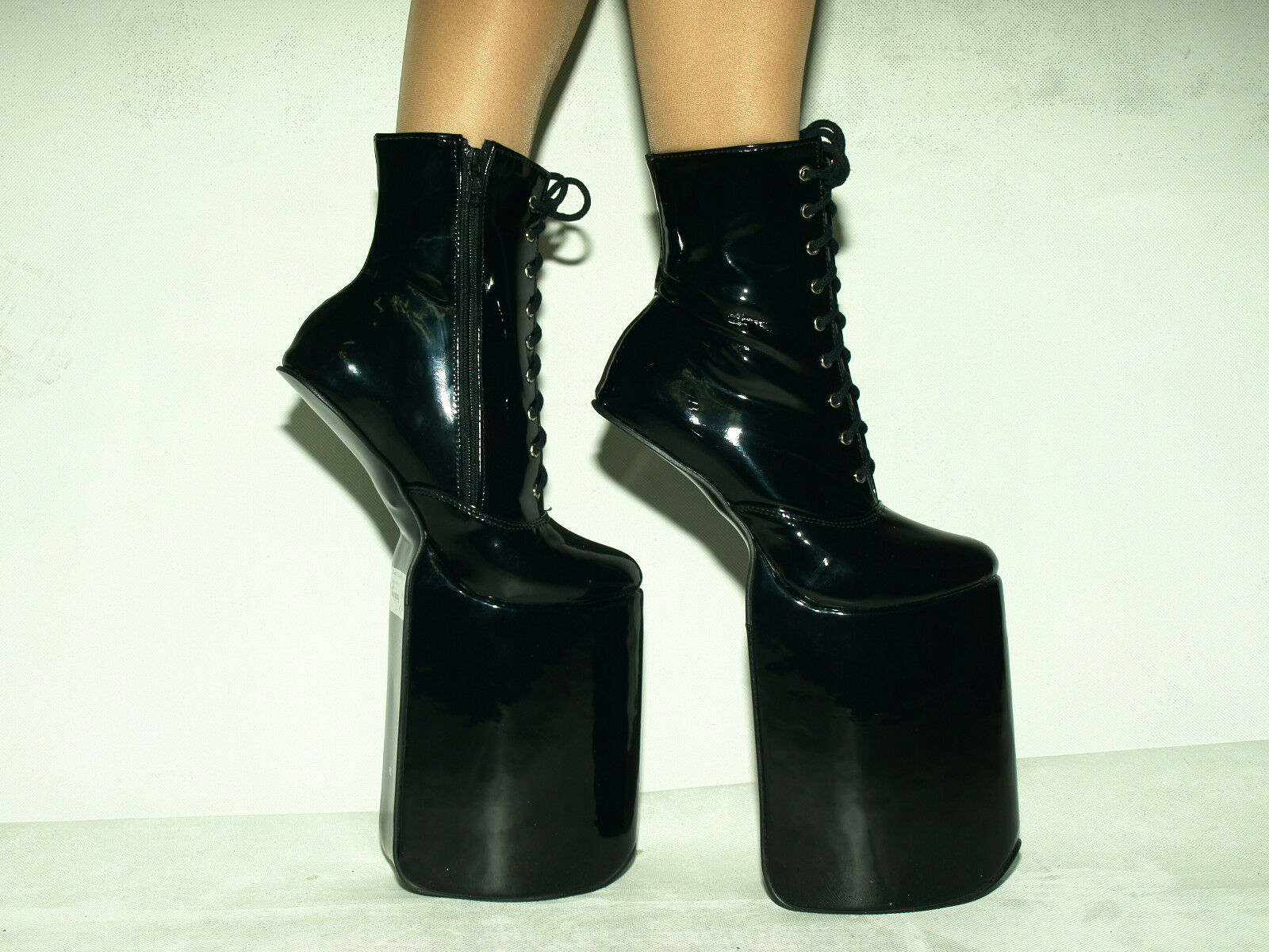 PONY BOOTS NEW PLATFORM 20CM-8CA LACK STRONG SIZE 6-16 BOLINGIER POLAND 1463