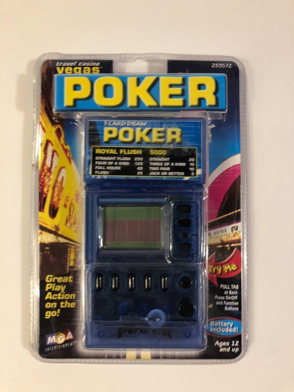Travel Casino Vegas Poker Handheld Video Game MGA 2000 Brand New