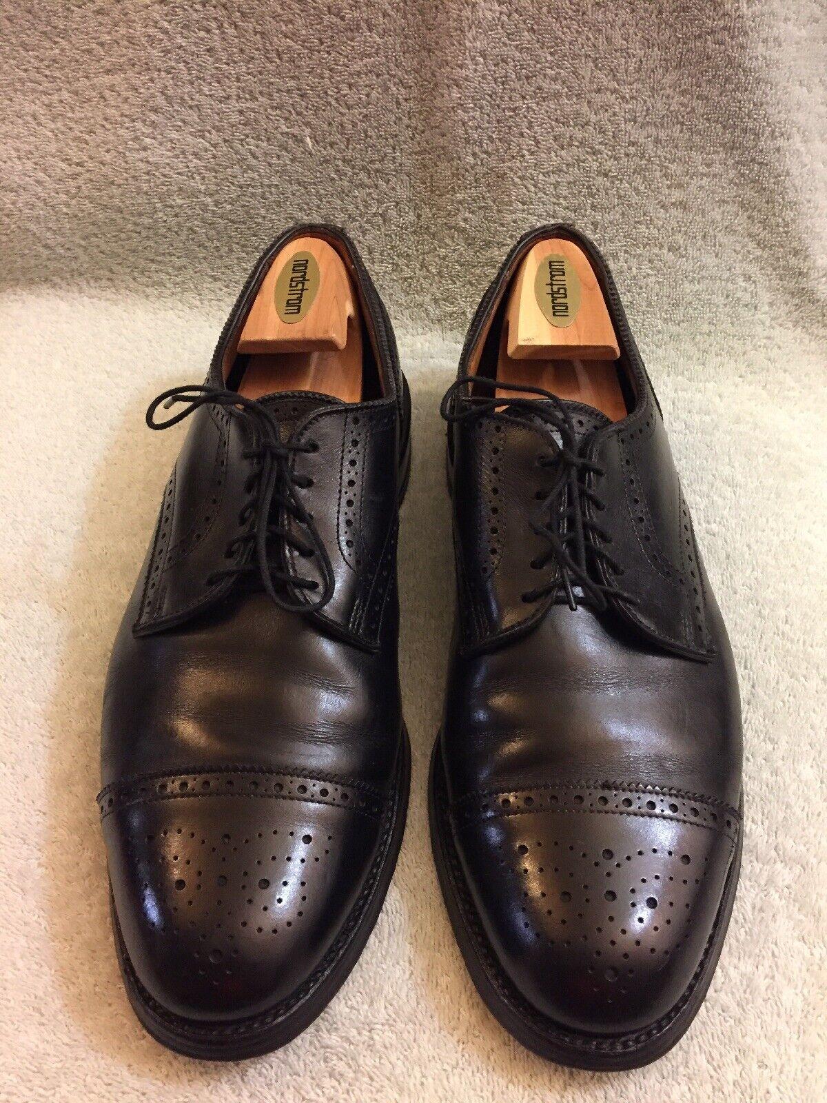 Allen Edmonds Lexington Black Leather Cap Toe Wingtip Men's Dress shoes Sz 11 D