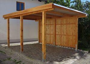 Carport 3x5 m lärche inkl. dach und anker ca. 310x510 cm direkt vom