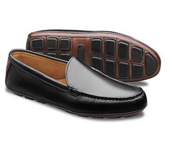 ALLEN EDMONDS CASTINE Driving Moc Chaussures Noires 8.0 D nouveau IN BOX