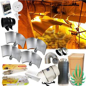 Details about Hydroponics Grow Room Setup 4xAdjust Wing Grow Light Ballast  Fan Filter Clip Fan