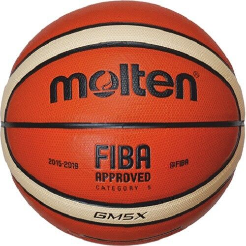 Molten Indoor Outdoor Basketball Gm5x Fiba Synthetic Leather Bgm5x Size 5