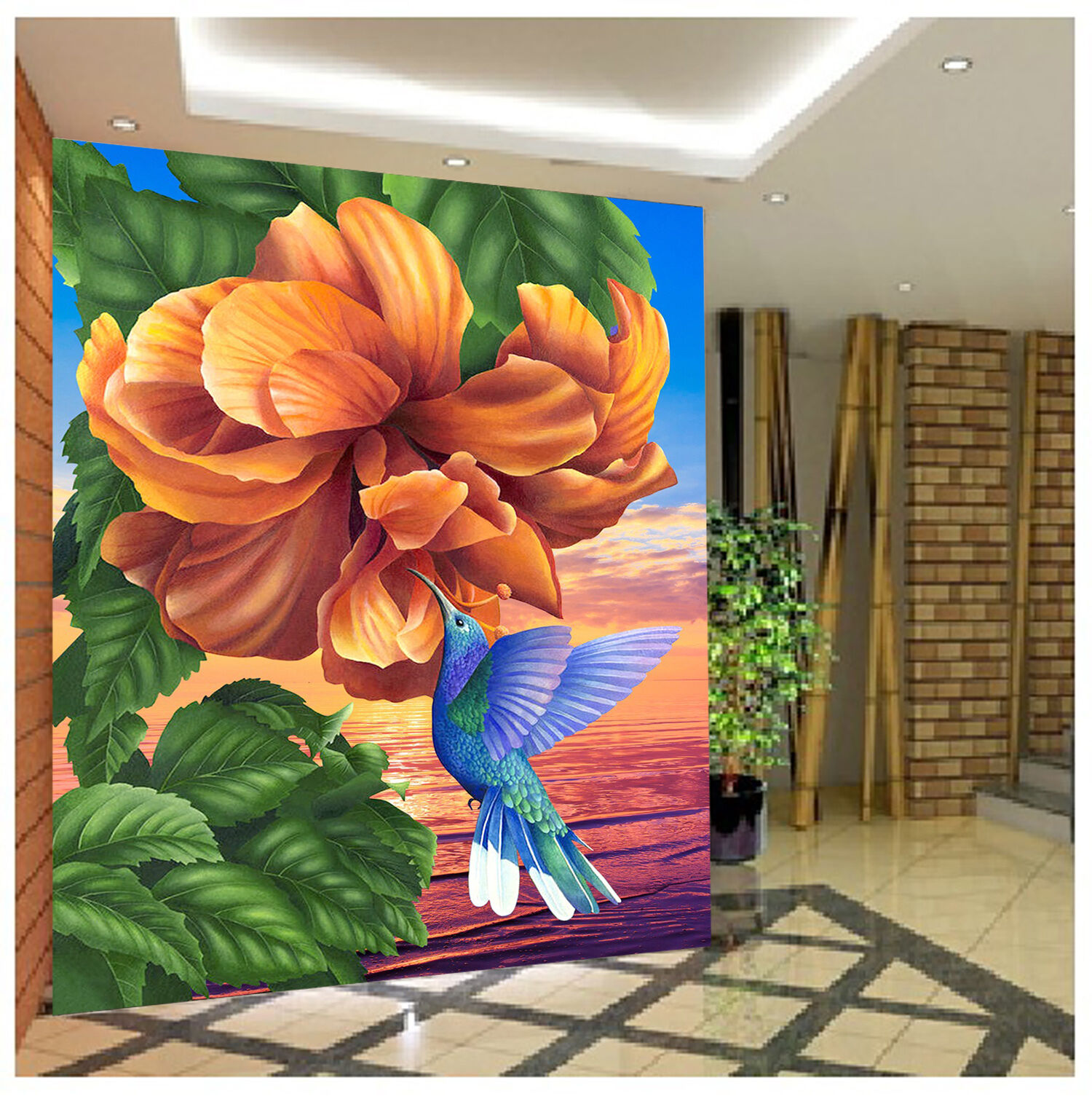 3D Seaside Flower Bird 1797 Paper Wall Print Wall Decal Wall Deco Indoor Murals