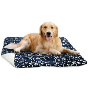 XL-Blue-Pet-Dog-Large-Bed-Cat-Mats-Soft-Plush-Cushion-Reversible-Tear-Washable