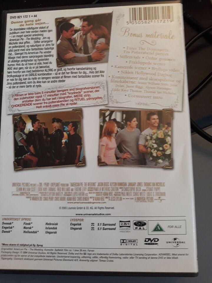 Amerikan pie Wedding, DVD, komedie