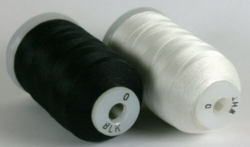Gudebrod Champion WHITE or BLACK SILK Thread Beading Rod Building 1//2 oz Spool