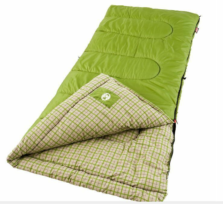 Coleman verde Valley Cool Sacco Weather Adult Sacco Cool a pelo Big Tall Cold Camping Nuovo 70ec5c