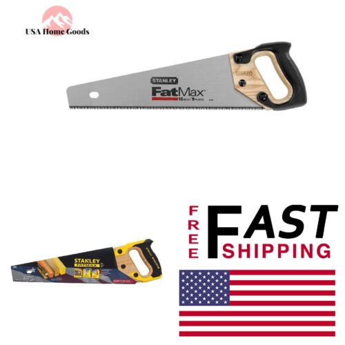 STANLEY Aggressive Tooth Saw 15 in.Heavy Duty Hand Tool Wood Plastics Sharptooth