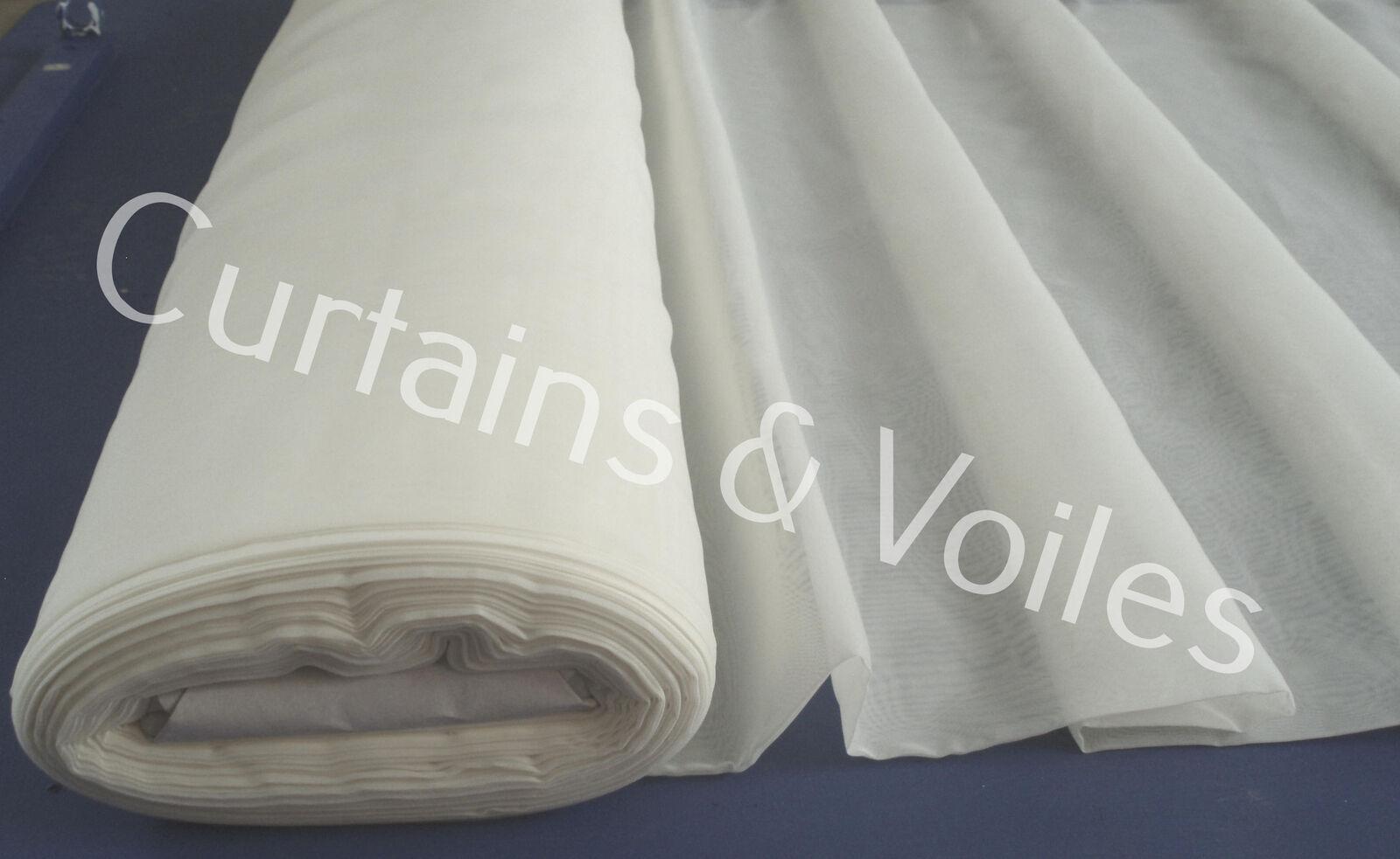 Ivoire ignifuge voile tissu rouleau 150 Cm Large Mariage événement Rideau  PM