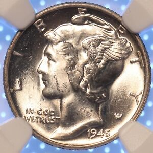 1945-P-MERCURY-DIME-NGC-MS65-FINCREDIBLE-FULL-WHITE-SHARP-STRIKE-CLASSIC-COIN