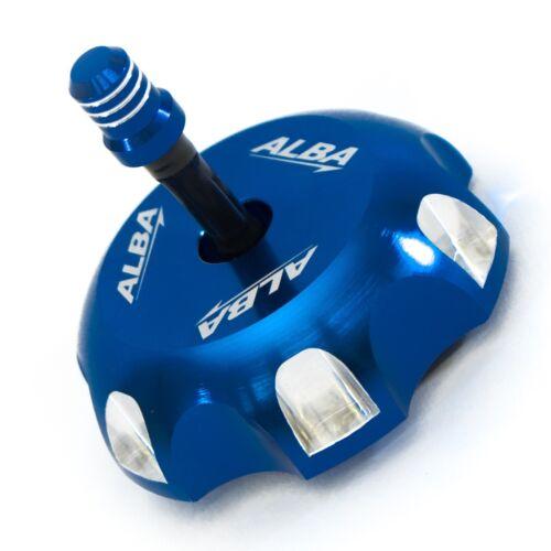Kawasaki KFX 450 KFX450   Billet Aluminum Gas Cap  Alba Racing  Blue  404 T6 L