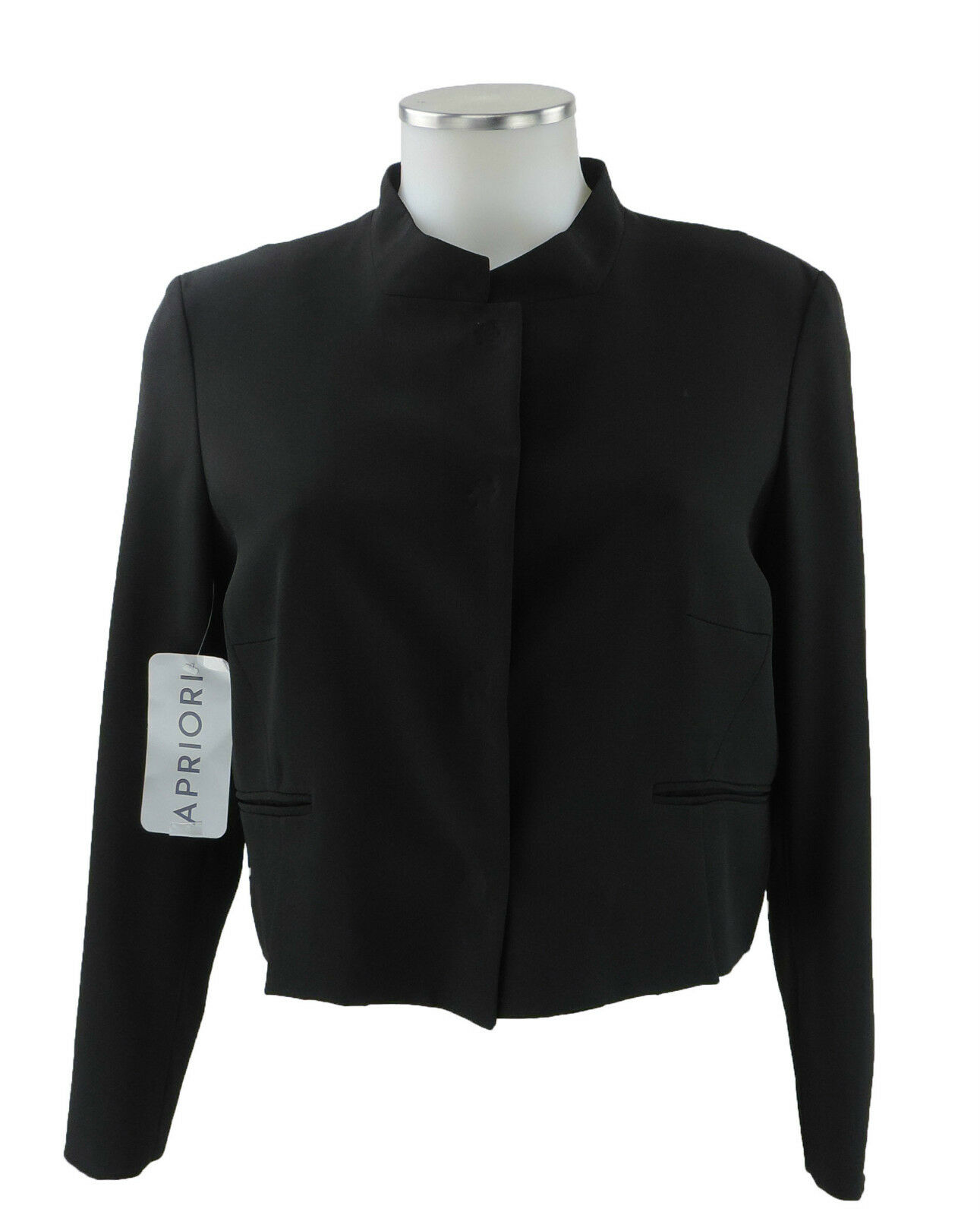 d6842ee2f21346 Apriori Blazer 38 schwarz kurz Bolero kurze Jacke Sakko Polyester neu m.  Etikett