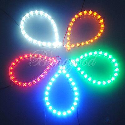 24 LED Aquarium Fish Tank Bar Stripe Light Decorative Lamp 5Colors Power Adapter
