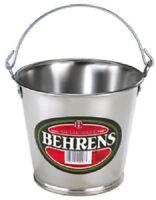 (24) Behrens 100gs 55 Ounce Galvanized Sheet Steel Water Pail / Buckets W Handle
