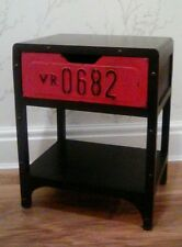 Industrial Urban style Black Bedside Side with one Table Number Plate Drawer