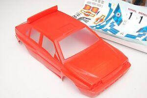 Stickers peints rouge Lancia Delta 89 pour carrosserie Rally Legends