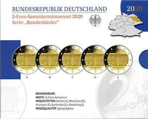 2 Euro Commémorative d'Allemagne 2020 Belle-Épreuve (BE) - Brandebourg